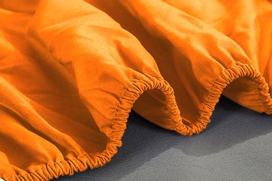 Emba Trade Jersey prostěradlo ŽLUTOORANŽOVÉ 2 180x200 cm