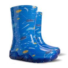 Demar otroški škornji Stormer Print T kosmos, 20-21, modri