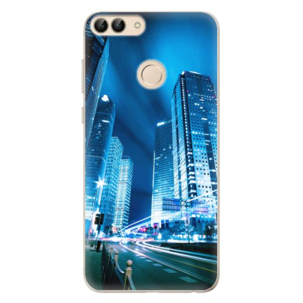 iSaprio Silikonové pouzdro - Night City Blue pro Huawei P Smart