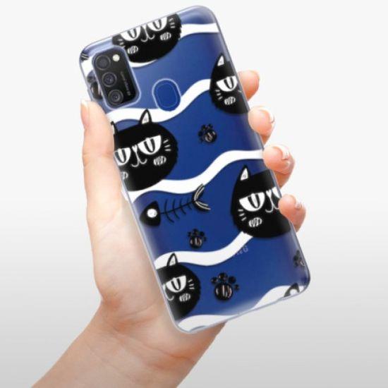 iSaprio Cat pattern 04 szilikon tok Samsung Galaxy M21