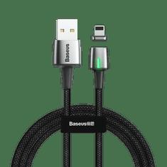 BASEUS Zinc magnetic kabel USB / Lightning 1m, črna