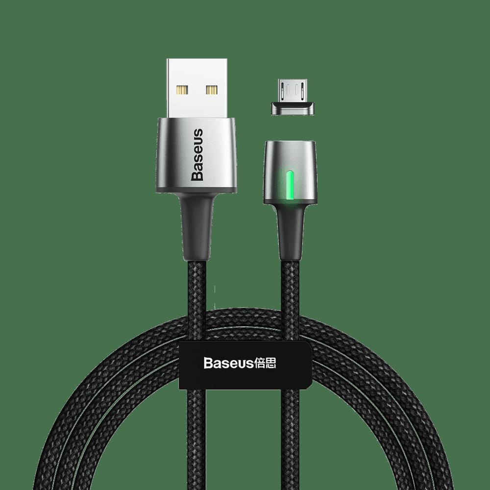 BASEUS Zinc magnetický kabel USB / Micro USB 1m, černý