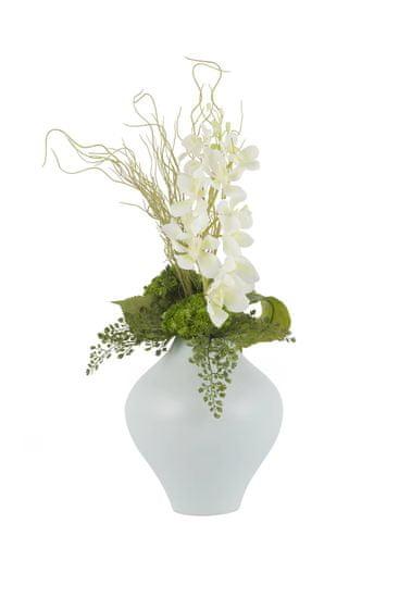 Green Apple Orchidea virágkötészet, 50 cm magas (váza nélkül)