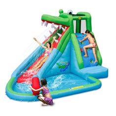 Happy Hop Crocodile Pool vodní skluzavka s bazénkem, skákací hrad