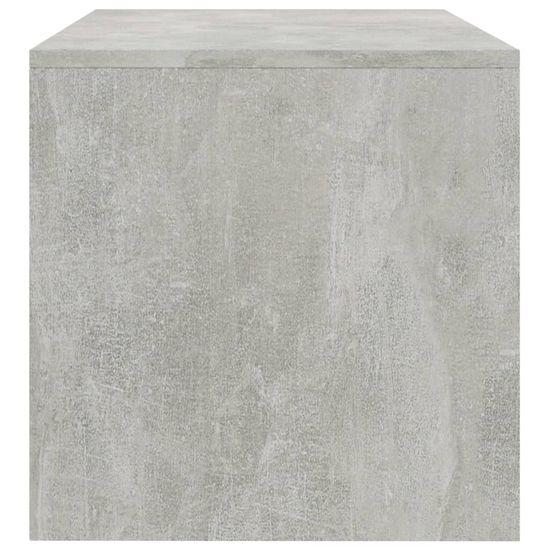shumee TV omarica betonsko siva 120x40x40 cm iverna plošča