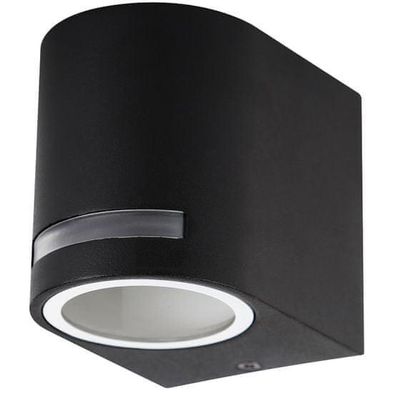 Ecolite Ecolite Fasádne svietidlo vonk., Oválne, 1xGU10, IP44, čierne Z37AW-CR