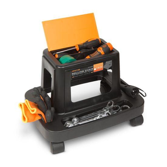 Handy Delovni stolček na kolesih z držalom za orodje and plastika
