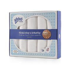 XKKO Detské plienky z biobavlny Organic 80x80 - Staré časy Biele