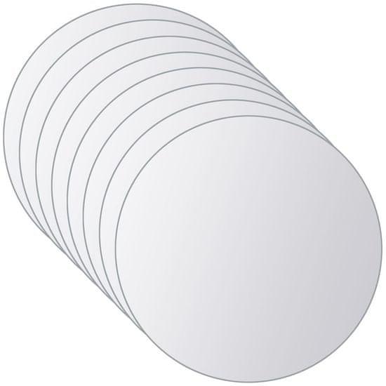shumee 8 kosov zrcalnih ploščic okrogle oblike steklo