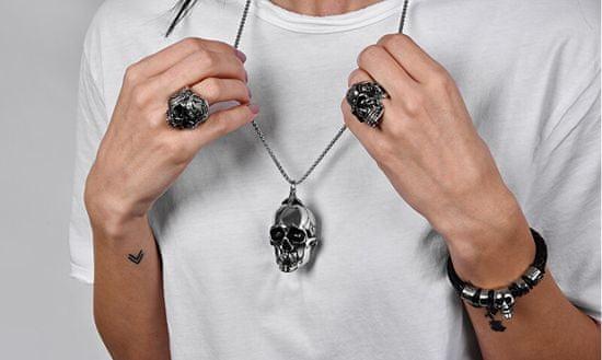 Troli Eleganten moški prstan z lobanjo