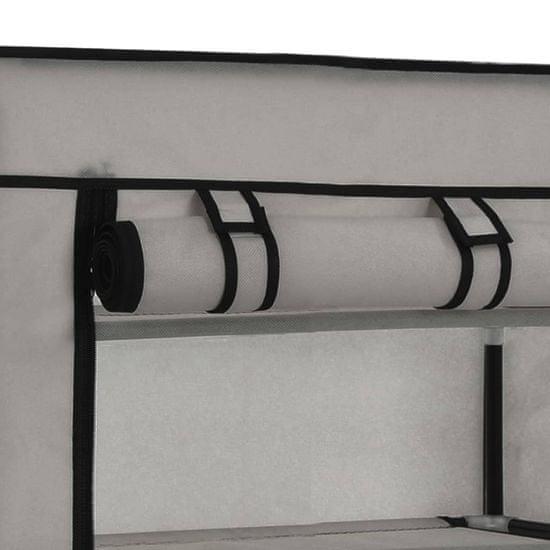 shumee szürke szövet cipőszekrény borítóval 58 x 28 x 106 cm