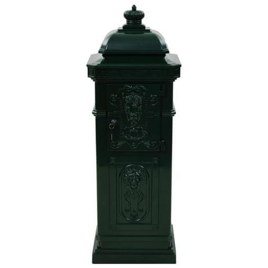 shumee Stojąca skrzynka na listy w stylu vintage, zielona, nierdzewna