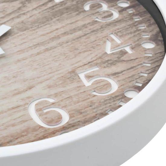 shumee Zegar ścienny stylizowany na drewniany, 30,5 cm