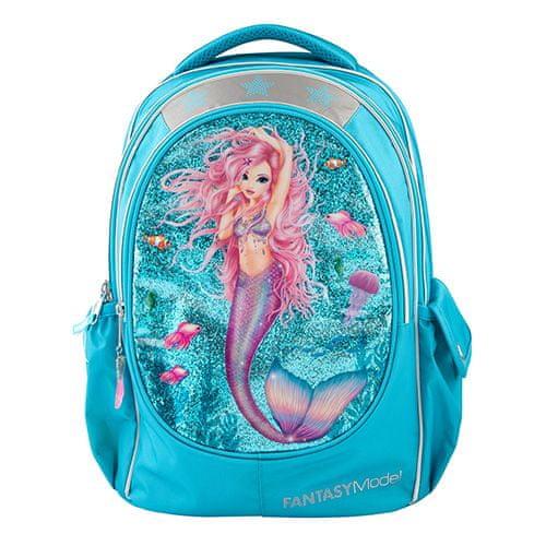 Fantasy Model Športni nahrbtnik Fantazijski model, Morska deklica, turkizna z bleščicami