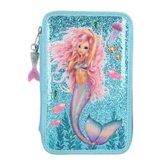 Fantasy Model Peračník s výbavou , Tyrkysový, morská panna s trblietkami