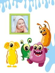 FANDY Fotoalbum 10x15 300 foto 2-up dětské Spookies 1 modré
