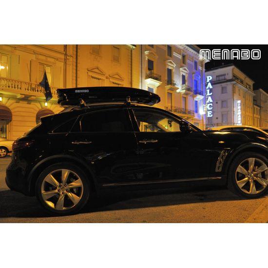 Menabo Střešní box Mania 580 Black - objem 580l / oboustranné otevírání / černý