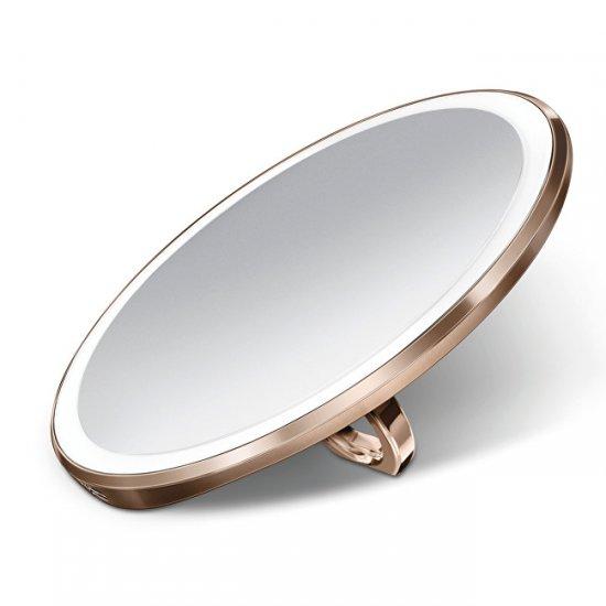 Kapesní dobíjecí kosmetické zrcátko Sensor Compact s LED osvětlením, 3x zvětšení