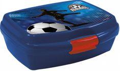 Derform Box na desiatu Futbal modrý