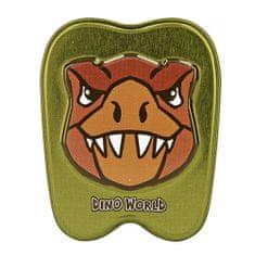 Dino World Blaszane pudełko ASST, T-Rex, ciemnozielony