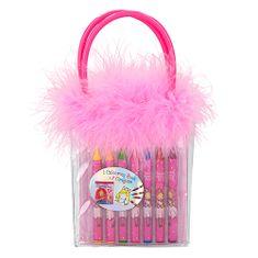Princess Mimi Kolorowanka Księżniczka Mimi, Z kredkami woskowymi, w plastikowej torbie z piórkami