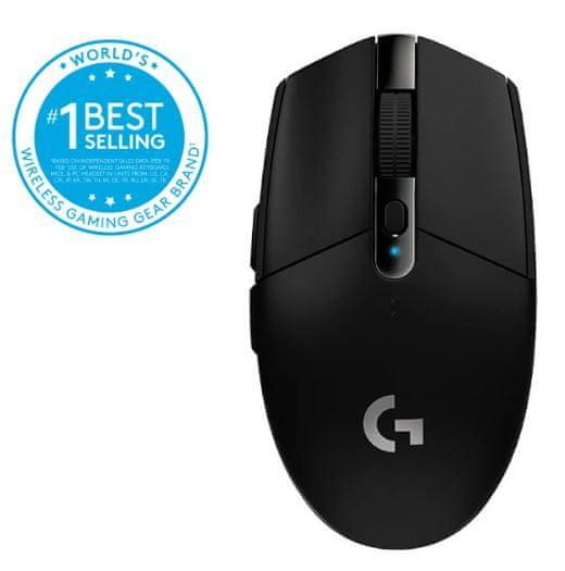 Logitech miška G305 Lightspeed Wireless Gaming, črna