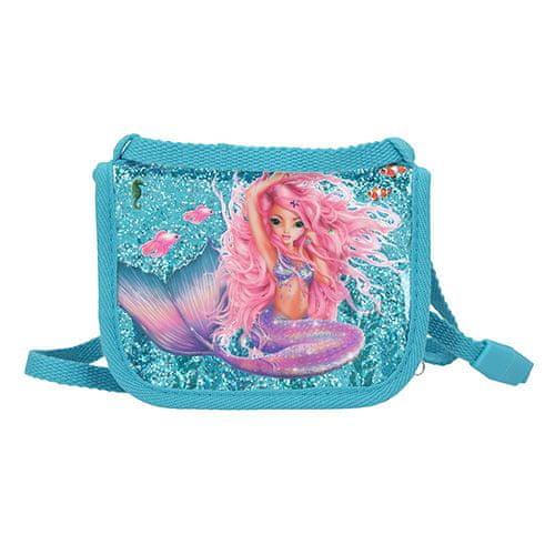 Fantasy Model Fantazijski žep na vratu, Morska deklica, turkizna z bleščicami