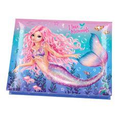 Fantasy Model Puzdro na kancelárske potreby , I Love Mermaids, 3x ceruzka, bloček, guma, svorky