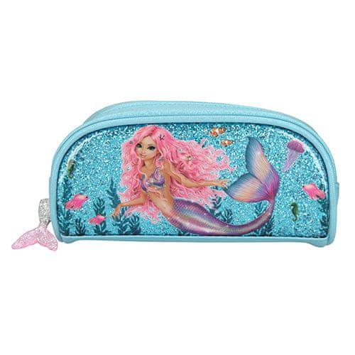 Fantasy Model Kozmetična torba , Morska deklica, turkizna z bleščicami