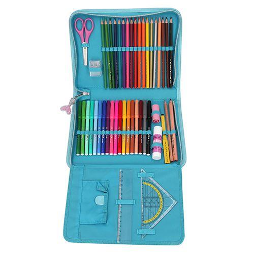 Fantasy Model Nagy ceruzatok felszereléssel, Türkiz, sellő, flitterekkel