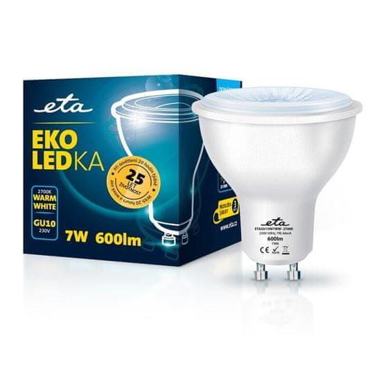 ETA LED žarnica, GU10, 7 W, toplo bela