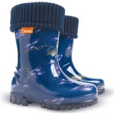 Demar Twister Lux Print Hi otroški škornji, podloženi, borovnice, modri, 20/21