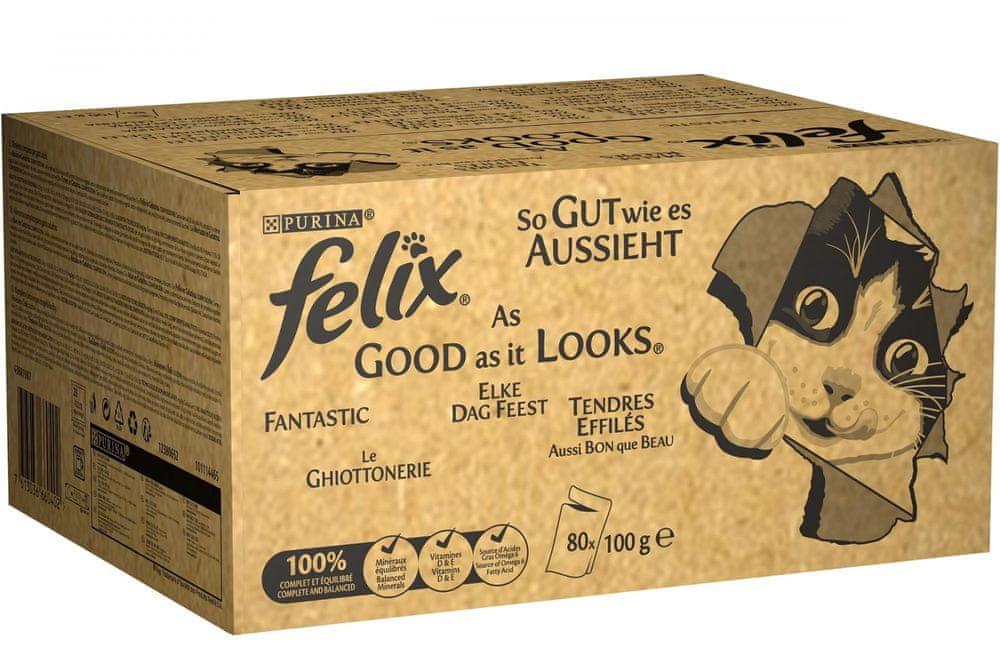 Felix FANTASTIC mix kapsiček lahodný výběr v želé 80x100 g