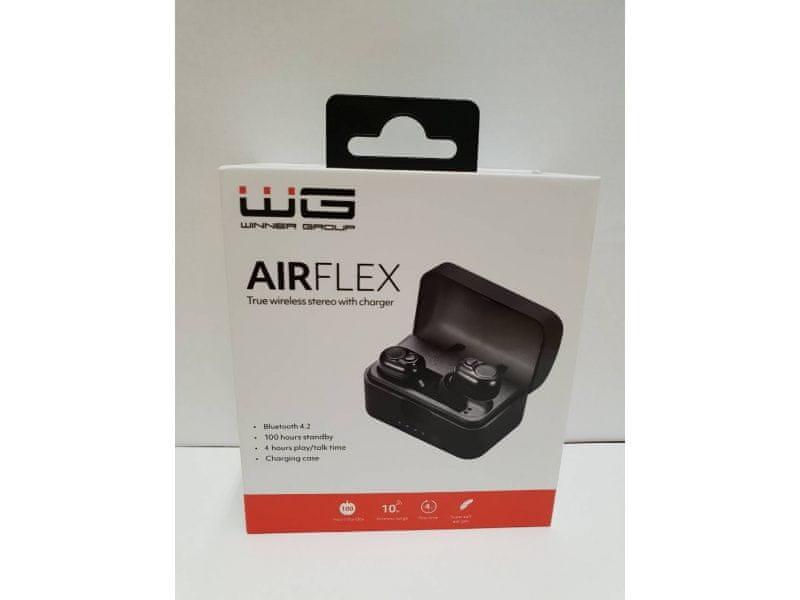 Sluchátka bluetooth WG AIRFLEX černá 53788