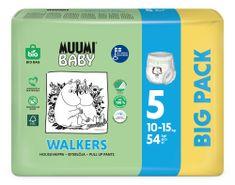 MUUMI BABY Walkers Big Pack veľ. 5, 54 ks, 10-15 kg biela 5