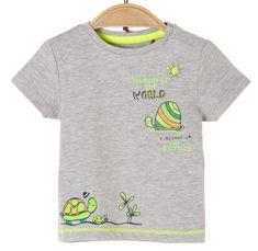 s.Oliver dětské tričko 50/56 šedá