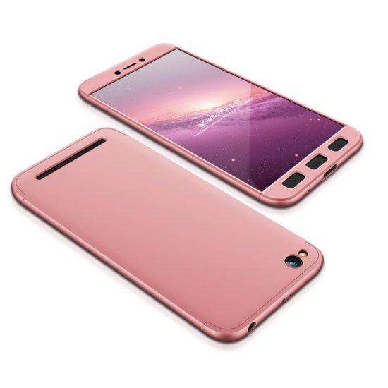 GKK 360 Full Body műanyag tok Xiaomi Redmi 5A, rózsaszín