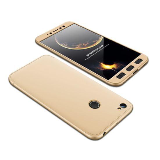 GKK 360 Full Body plastika ovitek za Xiaomi Redmi Note 5A Prime, zlato