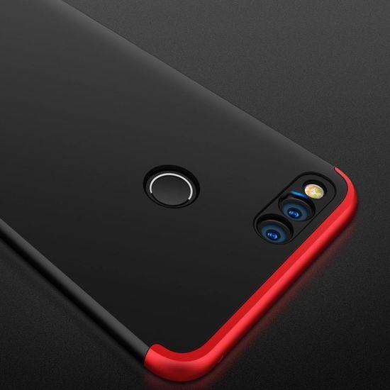 GKK 360 Full Body plastika ovitek za Huawei Honor 7X, črna/rdeča