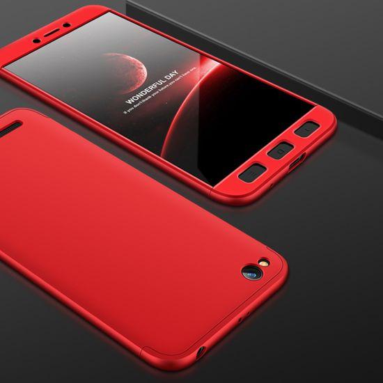 GKK 360 Full Body plastika ovitek za Xiaomi Redmi 5A, rdeča