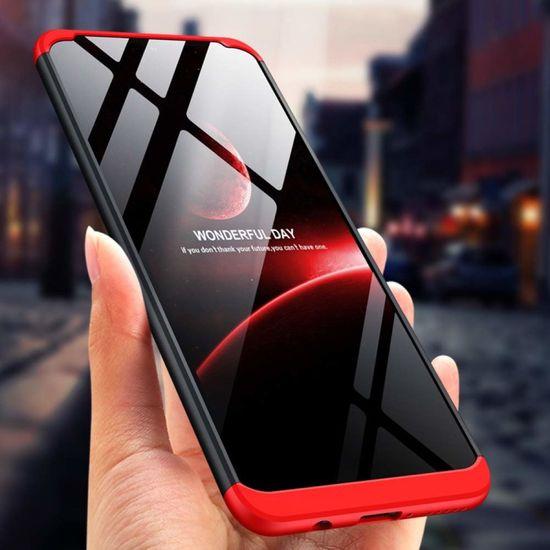 GKK 360 Full Body plastika ovitek za Huawei P30 Lite, črna/rdeča