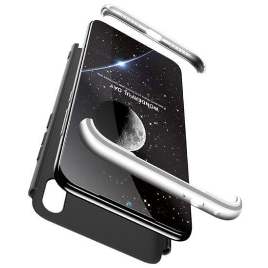 GKK 360 Full Body plastika ovitek za Xiaomi Redmi 7, črna/srebro
