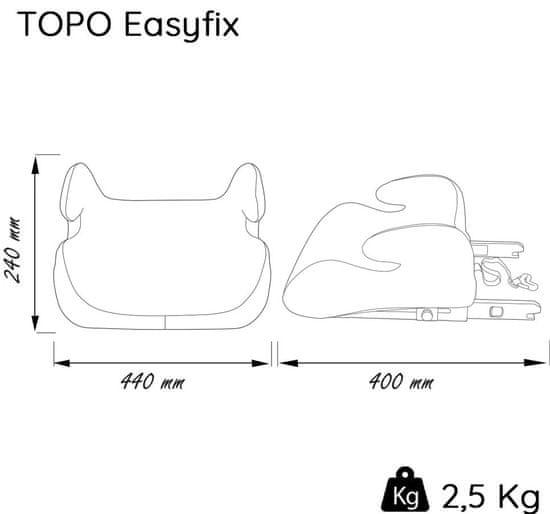 Nania otroški avtosedež Topo EasyFix Silver Grey 2020, siv