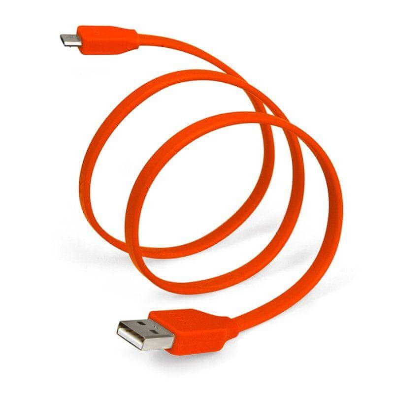 TYLT plochý kabel s konektorem USB a micro USB SYNCABLE - GEN II (1m) červená