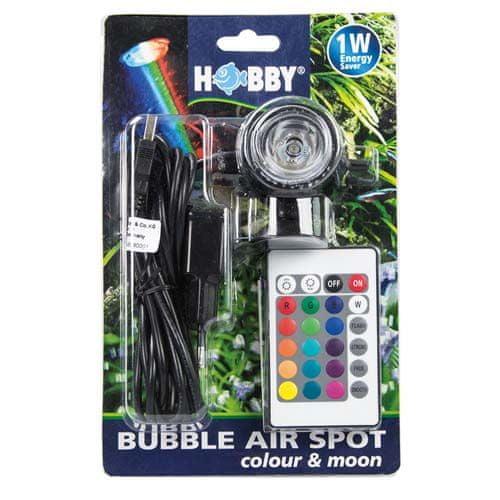 HOBBY aquaristic HOBBY Bubble Air Spot colour & moon okysličování s barevným LED osvětlením