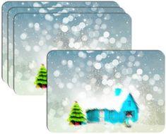 RoomDecor.eu Vánoční prostírání-002, 4 Ks