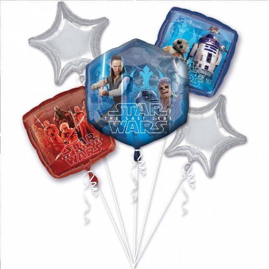Amscan Fóliové balónky sada 5ks Star Wars