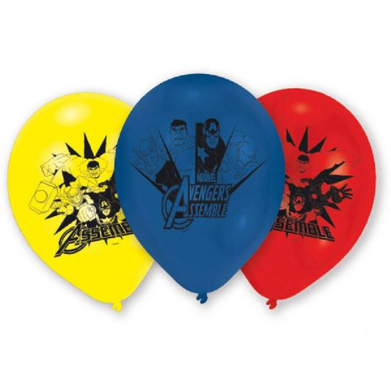 Amscan Latexový balónek Avengers 6ks 22,8cm