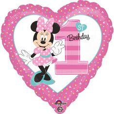 Amscan Fóliový balónek Minnie první narozeniny 43cm
