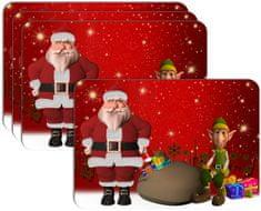 RoomDecor.eu Vánoční prostírání-004, 4 Ks